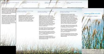 personnaliser modele de depliant 4 volets  8 pages  paysage nature champs fleurs MLGI34669