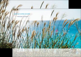 creer modele en ligne flyers paysage nature champs fleurs MLGI34673