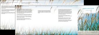 modele en ligne depliant 4 volets  8 pages  paysage nature champs fleurs MLGI34675
