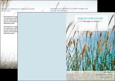 faire modele a imprimer depliant 2 volets  4 pages  paysage nature champs fleurs MLGI34677