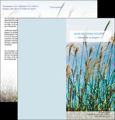 realiser depliant 2 volets  4 pages  paysage nature champs fleurs MLGI34679