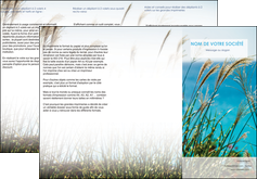 imprimerie depliant 3 volets  6 pages  paysage nature champs fleurs MLGI34683