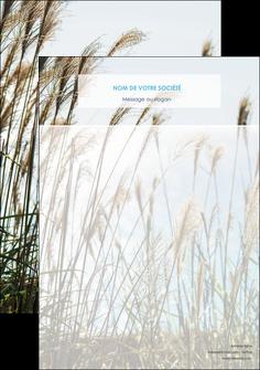 modele tete de lettre paysage nature champs fleurs MLGI34687