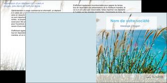 faire modele a imprimer depliant 2 volets  4 pages  paysage nature champs fleurs MLGI34689