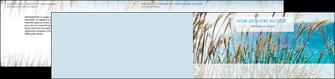 impression depliant 2 volets  4 pages  paysage nature champs fleurs MLGI34691