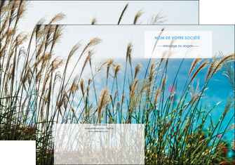 imprimer pochette a rabat paysage nature champs fleurs MLGI34693