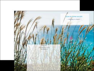 modele en ligne pochette a rabat paysage nature champs fleurs MLGI34695