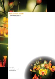 faire tete de lettre fleuriste et jardinage fleur luxe noire MIF34783