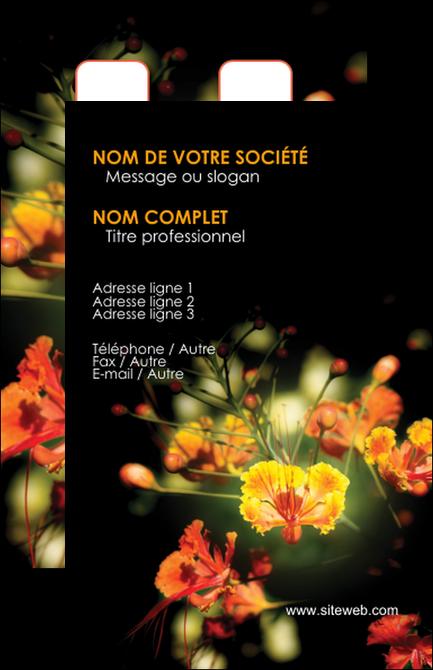 modele en ligne carte de visite fleuriste et jardinage fleur luxe noire MLGI34787