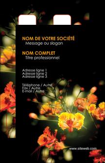 modele en ligne carte de visite fleuriste et jardinage fleur luxe noire MLIG34787