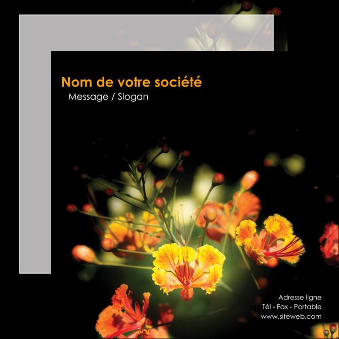 faire modele a imprimer flyers fleuriste et jardinage fleur luxe noire MLGI34789