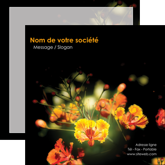 faire modele a imprimer flyers fleuriste et jardinage fleur luxe noire MIF34789