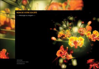 creation graphique en ligne affiche fleuriste et jardinage fleur luxe noire MIF34793