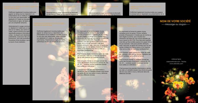 exemple depliant 4 volets  8 pages  fleuriste et jardinage fleur luxe noire MLGI34795