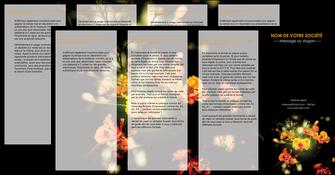 exemple depliant 4 volets  8 pages  fleuriste et jardinage fleur luxe noire MIF34795