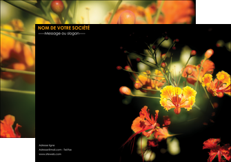 personnaliser modele de affiche fleuriste et jardinage fleur luxe noire MIF34797
