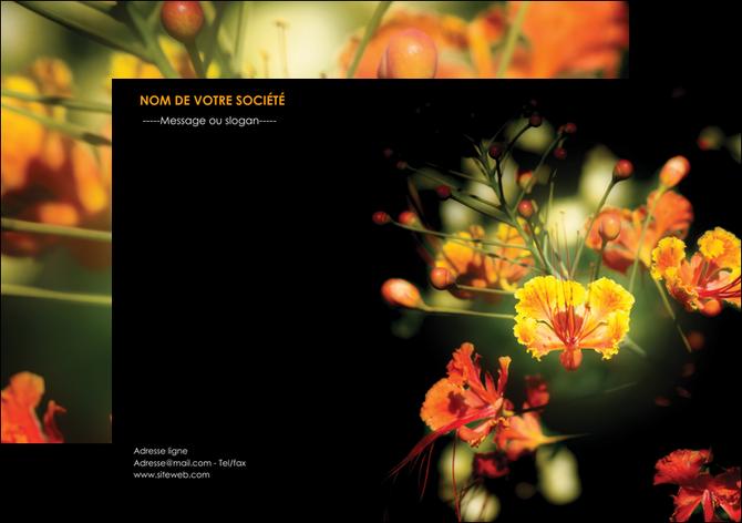 exemple flyers fleuriste et jardinage fleur luxe noire MLGI34799
