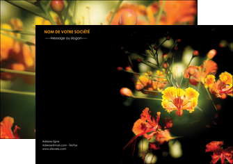 exemple flyers fleuriste et jardinage fleur luxe noire MIF34799