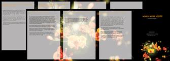 creer modele en ligne depliant 4 volets  8 pages  fleuriste et jardinage fleur luxe noire MLIG34801