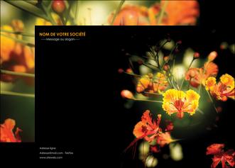 creer modele en ligne affiche fleuriste et jardinage fleur luxe noire MLGI34807