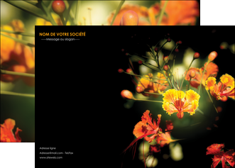 creer modele en ligne affiche fleuriste et jardinage fleur luxe noire MLIG34807