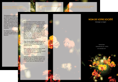 imprimer depliant 3 volets  6 pages  fleuriste et jardinage fleur luxe noire MIF34809
