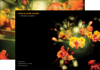impression affiche fleuriste et jardinage fleur luxe noire MLIG34811
