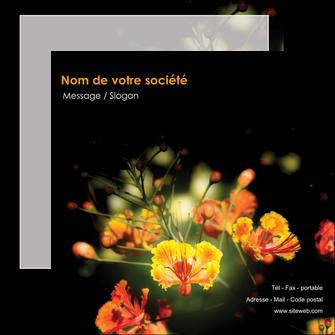 faire flyers fleuriste et jardinage fleur luxe noire MIF34815