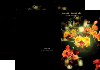 Impression Chemise / pochette à rabats Fleuriste & Jardinage devis d'imprimeur publicitaire professionnel Chemises à rabats - A4 plus - Quadri recto-verso - double rainages