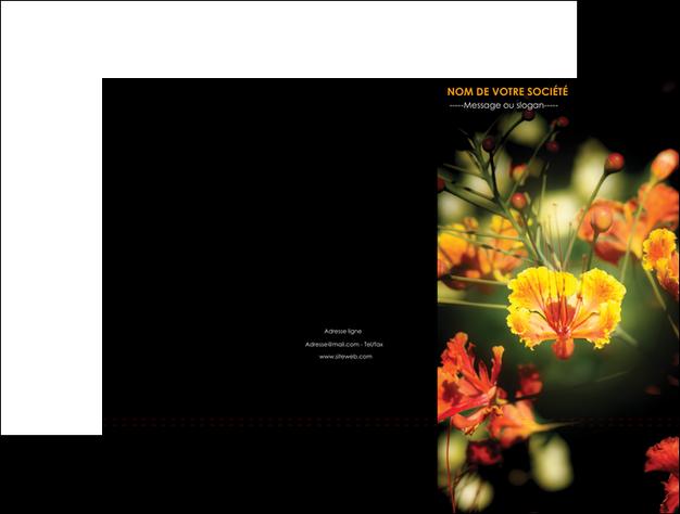 imprimer pochette a rabat fleuriste et jardinage fleur luxe noire MLGI34819