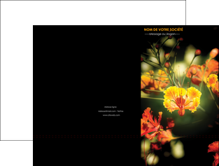 imprimer pochette a rabat fleuriste et jardinage fleur luxe noire MLIG34819