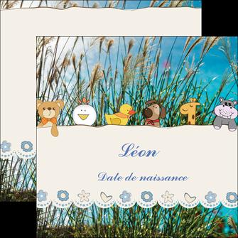 faire modele a imprimer flyers faire part de naissance carte de naissance carton invitation naissance MLIG34821