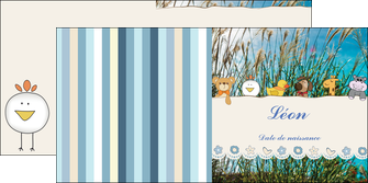 creer modele en ligne depliant 2 volets  4 pages  faire part de naissance carte de naissance carton invitation naissance MIF34823