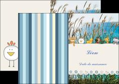 modele depliant 2 volets  4 pages  faire part de naissance carte de naissance carton invitation naissance MLIG34825