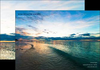 personnaliser maquette affiche sejours mer nature ciel MID34841