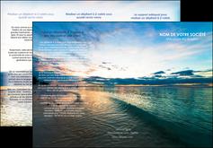 imprimerie depliant 3 volets  6 pages  sejours mer nature ciel MID34843