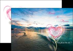 imprimerie depliant 2 volets  4 pages  faire part de mariage invitation mariage noces MLGI34869