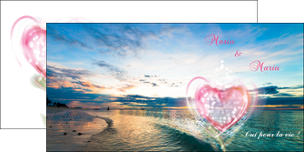 creer modele en ligne depliant 2 volets  4 pages  faire part de mariage invitation mariage noces MLGI34871