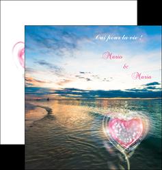 imprimer depliant 2 volets  4 pages  faire part de mariage invitation mariage noces MLGI34877