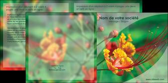 modele depliant 2 volets  4 pages  fleuriste et jardinage nature colore couleurs MLGI34901