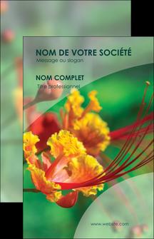 faire modele a imprimer carte de visite fleuriste et jardinage nature colore couleurs MLGI34903