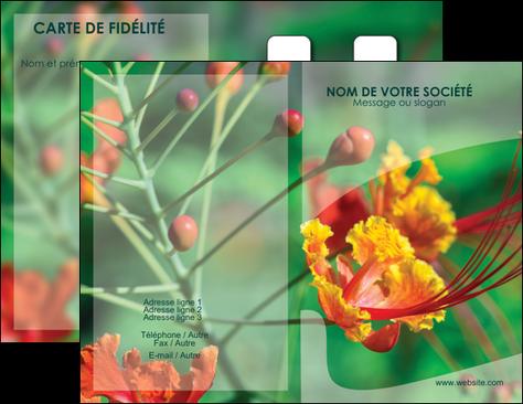 maquette en ligne a personnaliser carte de visite fleuriste et jardinage nature colore couleurs MLGI34905