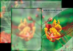 creation graphique en ligne depliant 2 volets  4 pages  fleuriste et jardinage nature colore couleurs MLGI34909