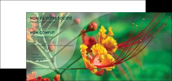 maquette en ligne a personnaliser carte de correspondance fleuriste et jardinage nature colore couleurs MLGI34911