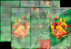 modele en ligne depliant 3 volets  6 pages  fleuriste et jardinage nature colore couleurs MLGI34915