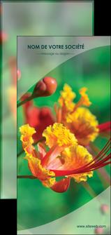 maquette en ligne a personnaliser flyers fleuriste et jardinage nature colore couleurs MLGI34919