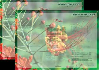 maquette en ligne a personnaliser set de table fleuriste et jardinage nature colore couleurs MLGI34921