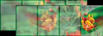 faire depliant 4 volets  8 pages  fleuriste et jardinage nature colore couleurs MLGI34923
