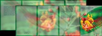 modele en ligne depliant 4 volets  8 pages  fleuriste et jardinage nature colore couleurs MLGI34925