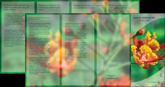 impression depliant 4 volets  8 pages  fleuriste et jardinage nature colore couleurs MLGI34927